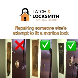 Insurance Rated Mortice Lock Installation